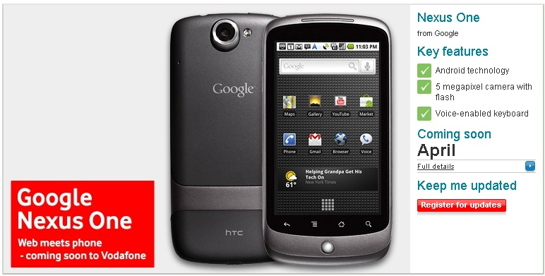 nexus one will be available on vodafone uk in april nexus one review blog nexus one user guide User Guide Guide Book