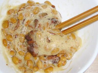納豆に赤貝の味付缶詰感覚