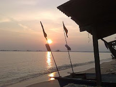 Sunset at Fisherman Village, Pantai Rombang, Melaka