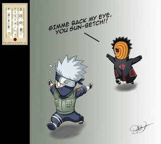 Kakashi Chibi on Tobi And Kakashi From I Can T Read The Watermark