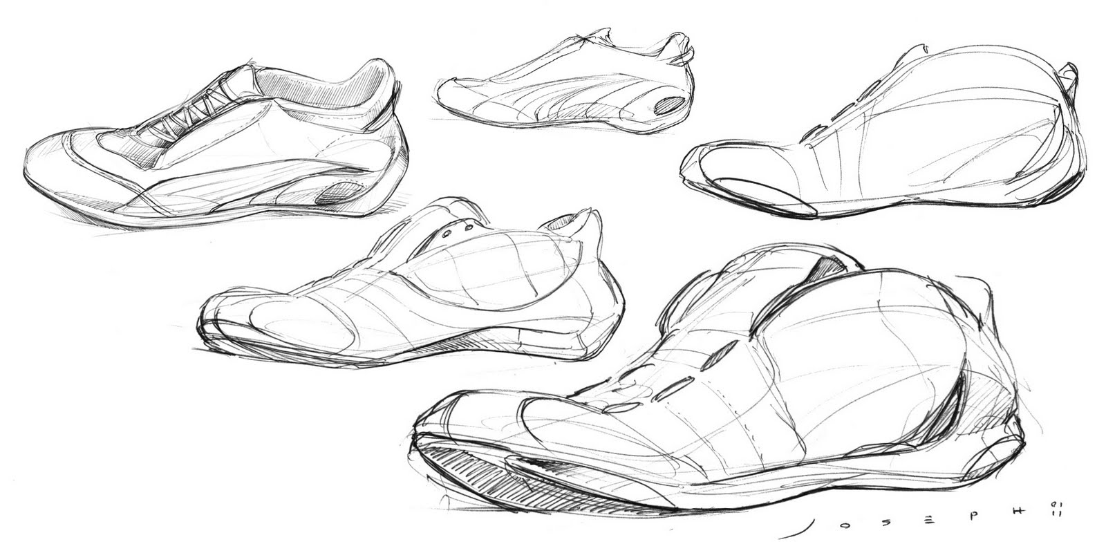Shoe Designs Drawings Compared to Drawing a Car