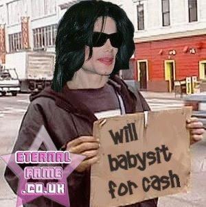 IMAGE: Michael Jackson begging