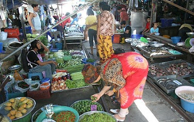 IMAGE: Mae Klong Railway market covered