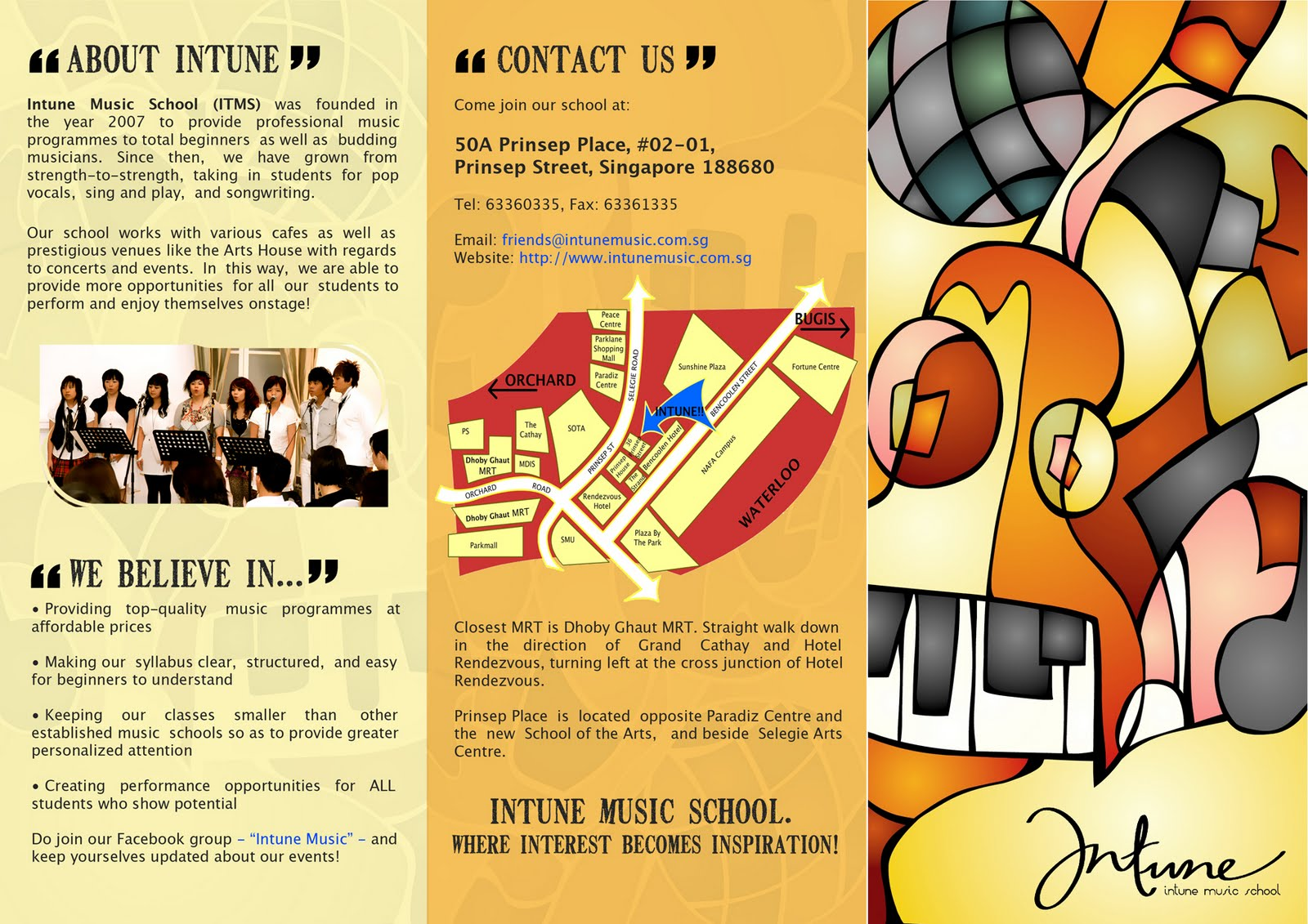 What I do and what Ive done Brochure Design – Music Brochure