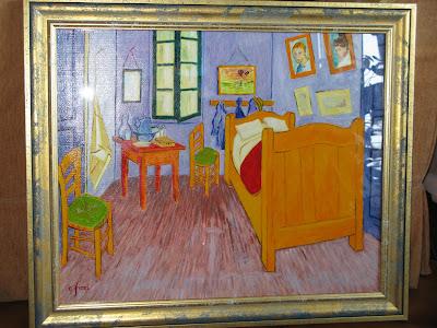 Le mie riproduzioni ad olio e a cura di cesare fiori da vincent van gogh la camera - La camera da letto van gogh ...