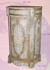 (13) موبل عالي درج ودرفه مصنع من الخشب الزان والسويديوالقشره الطبيعيه والمارتيكليه اليدوي