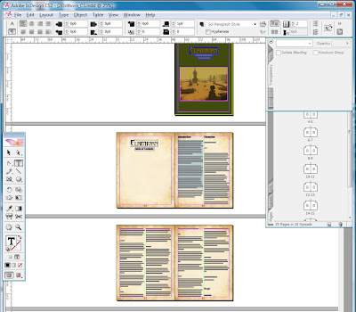Elrithorn Campaign Guide as viewed in Adobe InDesign