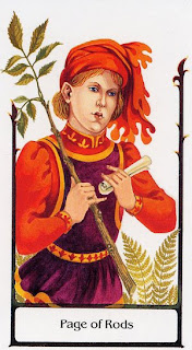 Page of Rods Tarot Of The Old Path