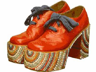Funky Platform Shoes, 70s Platform Shoes, Groovy Shoes, Vintage Shoes, Groovy Retro Shoes