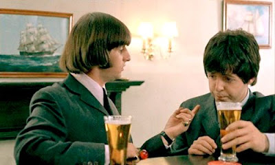 Paul McCartney, Ringo Starr, Beatles, Drinking Beer