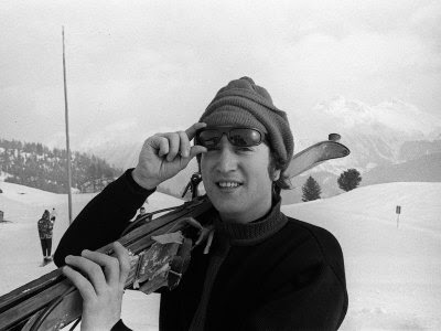 john lennon, skiing
