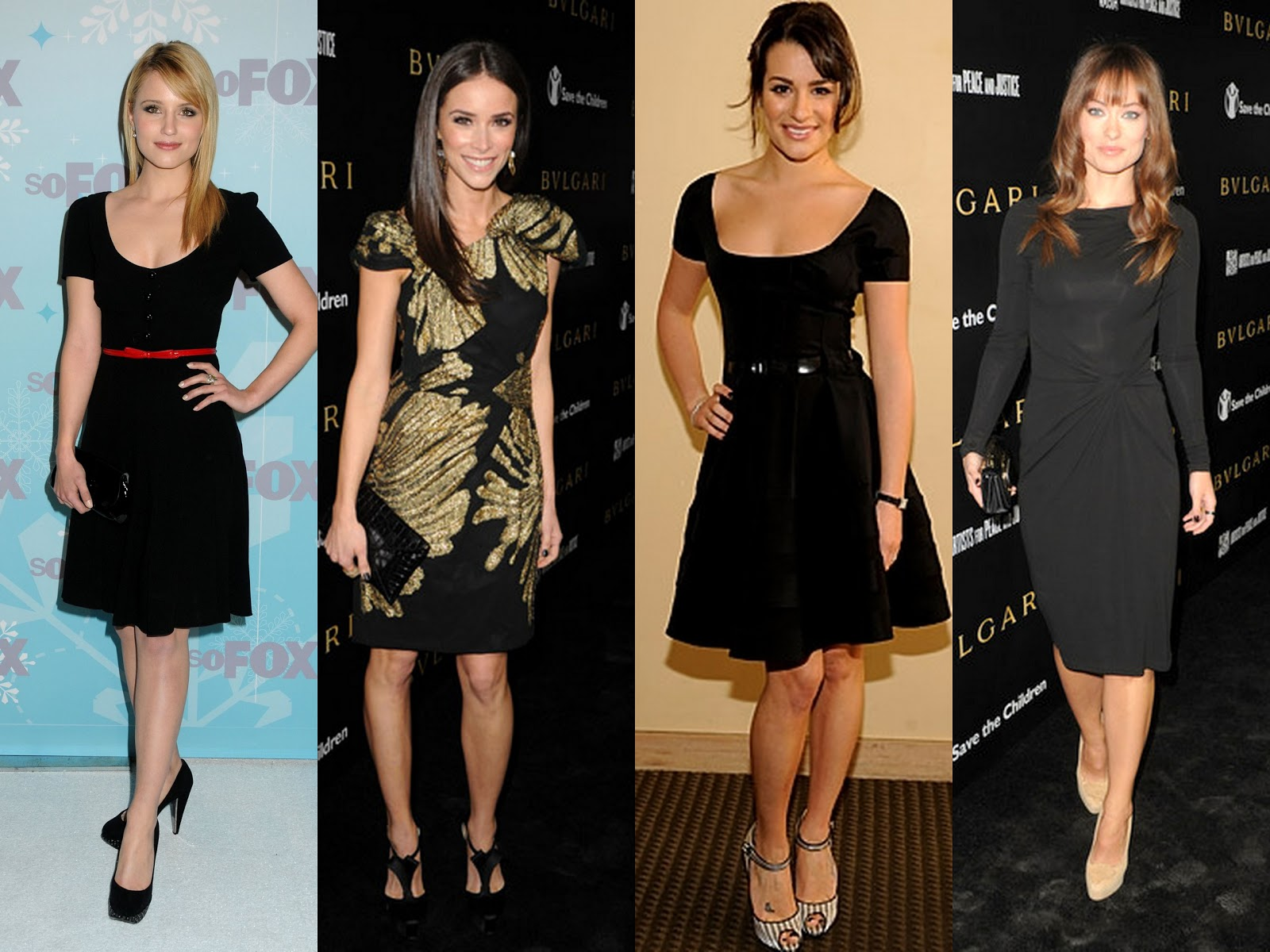Here are some pretty little black dresses worn on the red carpet this