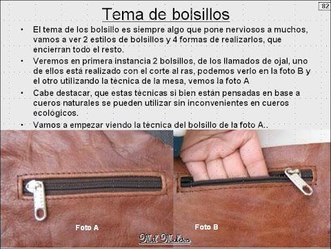 TÉCNICAS DE CONFECCIÓN DE BOLSILLOS DE CARTERAS Y BOLSOS EN CUERO