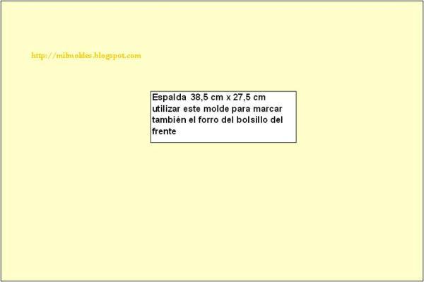 MOLDE DE ESPALDA DE BOLSO GRANDE en MIL MOLDES