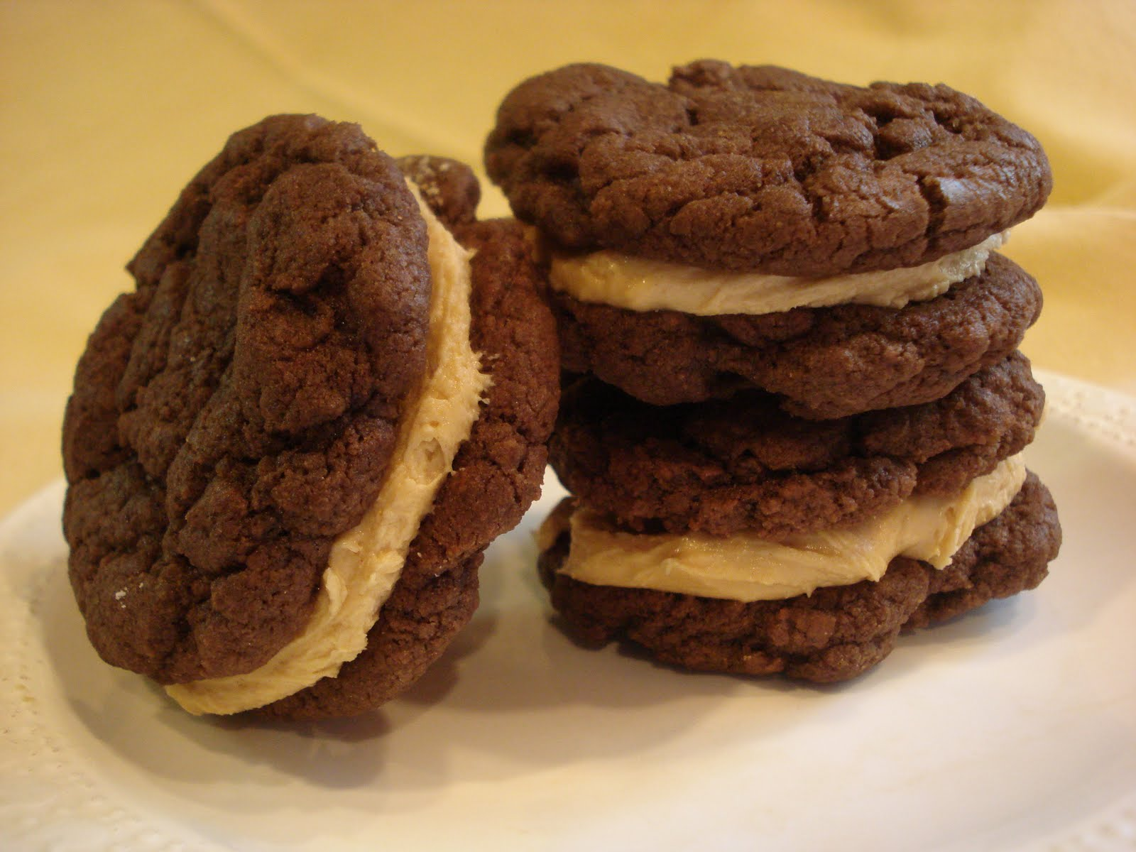 The Cookie Scoop: Chocolate Peanut Butter Sandwich Cookies