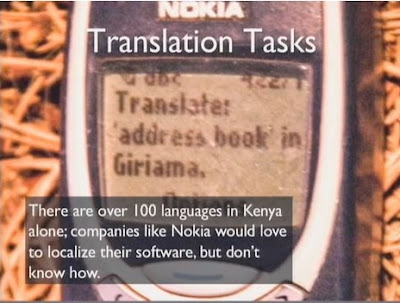 Nokia being used for translation job