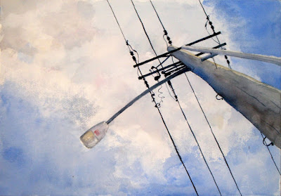 Watercolor Painting 'The Pole' by Steve Penberthy