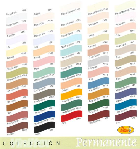 Carta de colores pintuco imagui for Paleta de colores de pintura para interiores