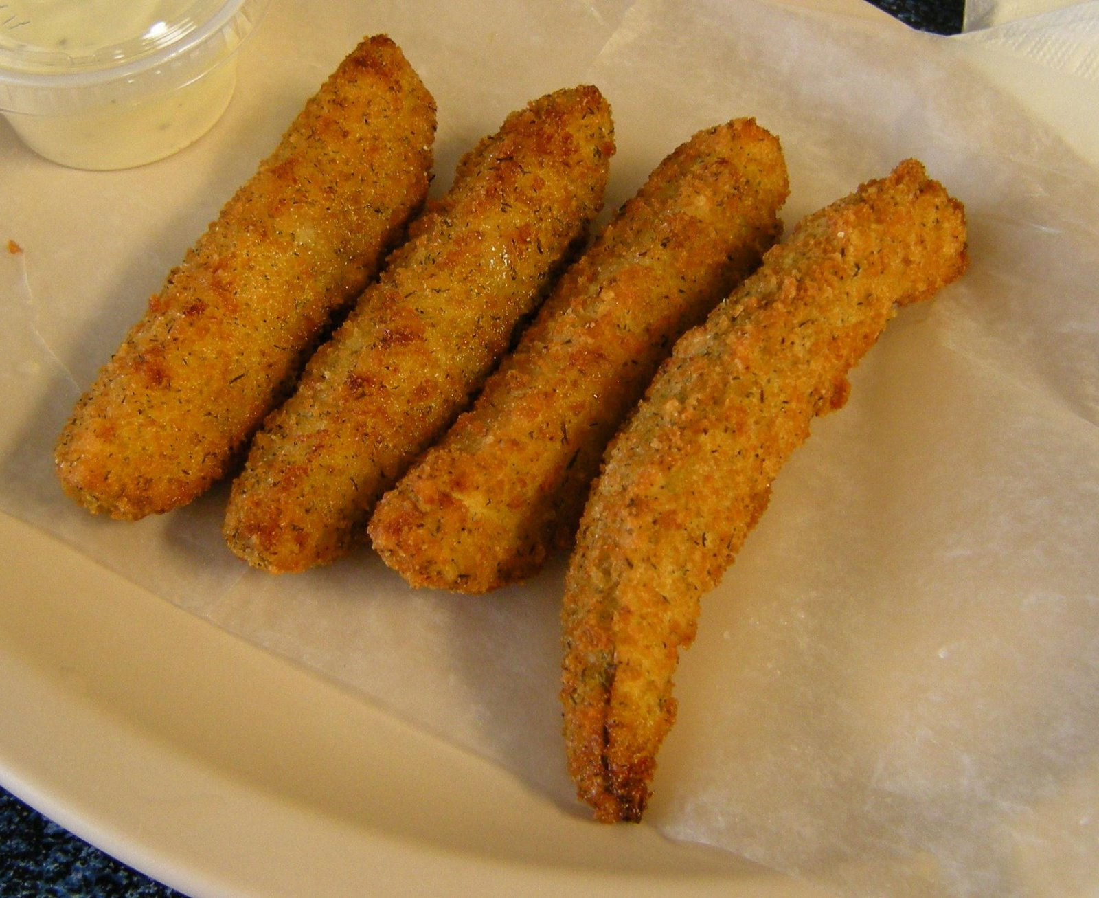Fried pickle spears at Uncle Dean's Catfish. (Kat Robinson)
