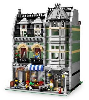 Mansão chamada Lego Green Grocer! Projetada em módulos que podem ser encaixados de acordo com a preferência do colecionador.