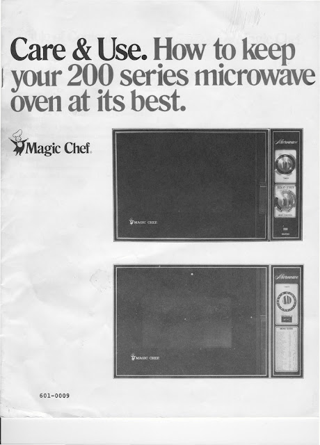1983 Fleetwood Pace Arrow Owners Manuals  Magic Chef 200