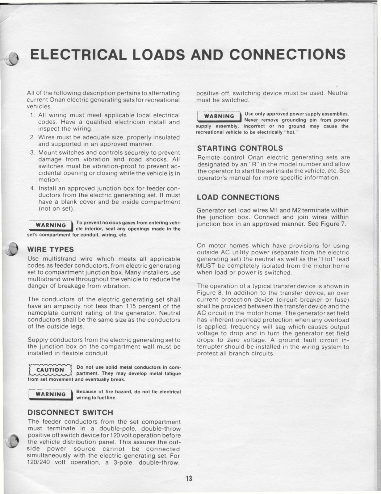 1983 Fleetwood Pace Arrow Owners Manuals Onan 40 Kw Bfa Genset Need To Know Wire The Id Of 4 Wires For Remote Start On Posted By Vintage Travel Trailers At 1020 Am