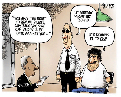 water boarding cartoons with Eric Holder or Obama