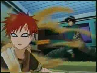 "'Anime Characters"": GAARA OF THE SAND [SABAKU NO GAARA] Gaara And Rock Lee Vs Kimimaro"