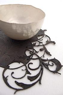 Miranda Meilleur: Silver bowl & steel saucer