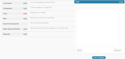 thesis text widget