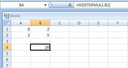 Menghitung Determinan Matriks Menggunakan Excel Rumus Mtk