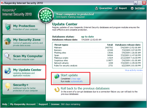 Update Kaspersky-Antivirus in Off-Line