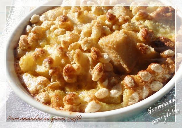 Poires amandines au quinoa soufflé