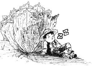 Garbancito echándose una siesta