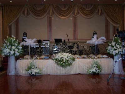 wedding reception held at the lavishly decorated Yepremian Banquet Hall