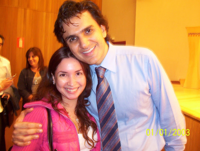 Eu com o Profº Gabriel Chalita em uma palestra divina!!!