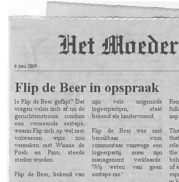 Flip de Beer in opspraak - Berichten van het Moederfront