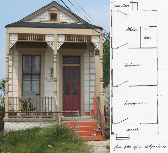 Shotgun style house plans floor plans - New orleans home decor stores property ...