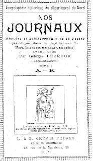 Nos journaux, de Georges Lepreux
