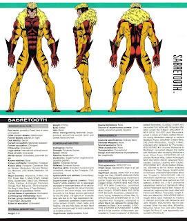 Dientes de Sable (Ficha de Marvel)