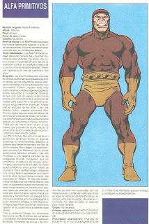 Alfa Primitivos (ficha marvel comics)