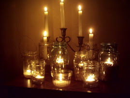 Canning Jar Candlescape