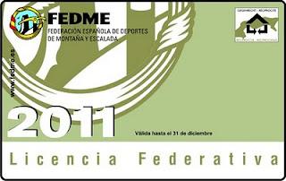 Licencia federativa 2011