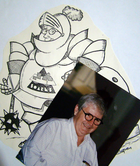 Arte de Marcelo Lopes de Lopes enviada para Jô Soares