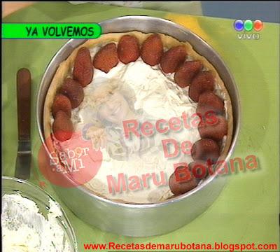 Tarta de Frutillas con Dulce De Leche Receta de Maru Botana