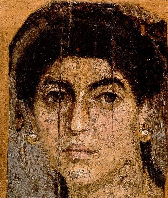 Retrato de Hombre encontrado en la necropolis de Al Fayum