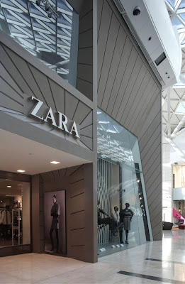 Zara Store Facade at Westfield London
