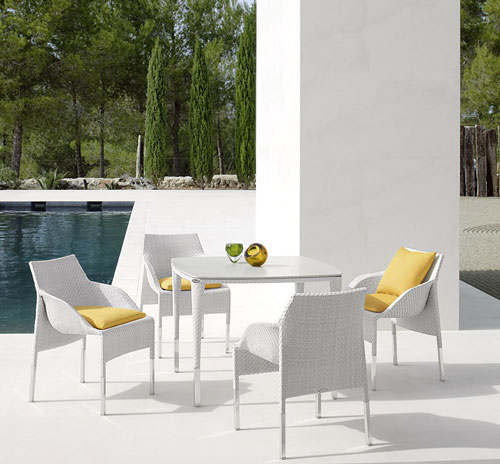 Dedon outdoor furniture dedon slimline collection for Dedon outdoor furniture