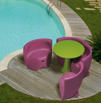 on the patio or poolside,