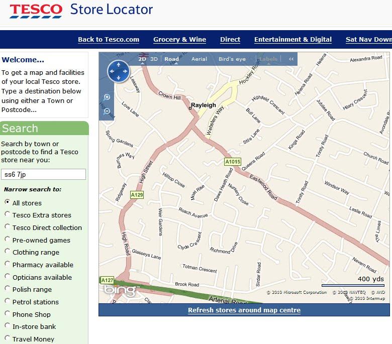 Nearest Tesco Clothes Store